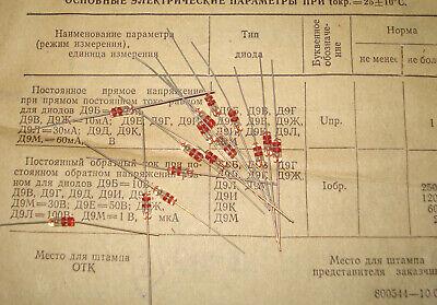 200 Pcs D9b 9 Ussr Germanium Detector Diode 10v 40ma. Nos.
