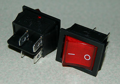 Pin Snap - 2pcs 4 Pin ON-OFF2 Position DPST Snap In Boat Rocker Switch With Red Light Lamp