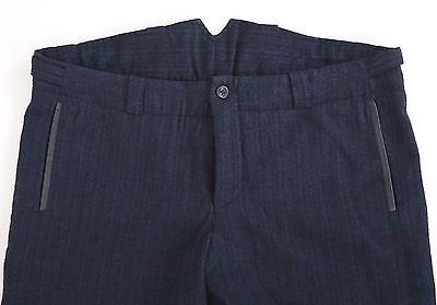 "NWT HANNES ROETHER VIRGIN WOOL LINEN Herringbone Pattern Pants Trousers XL W-38"""