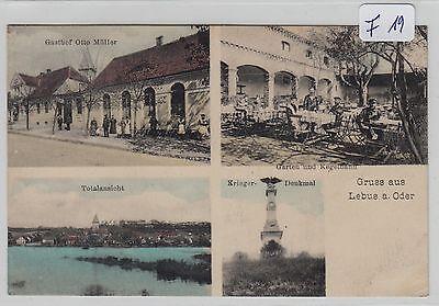 2632, Lebus / Oder schöne 4 Bild zart Color Karte mit Gasthof gelaufen !