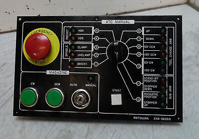 Matsuura Automatic Tool Changer Control Panel, EN4-0698B, Used, WARRANTY