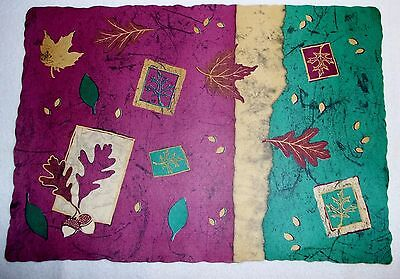 Paper Placemats Autumn Thanksgiving Fall Leaves Table Set 12 Disposable