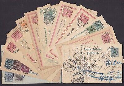 Allemagne 1880/1920 Lot de 12 entiers postaux ayant circulé - TTB..........X1651