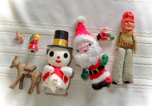 Lot of 7 Vintage Christmas Ornaments Decorations