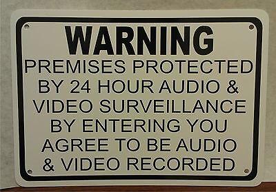 Warning Audio Video Surveillance 7 X 10 Sign