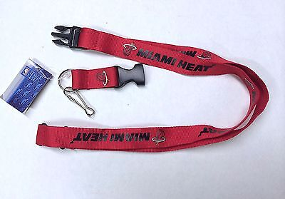MIAMI HEAT Breakaway Lanyard W/Keychain Clip Officially Licensed