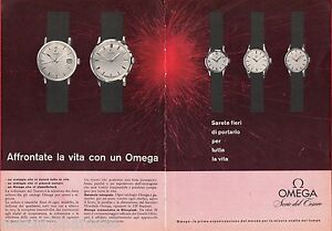 Pubblicita-Advertising-1960-OMEGA-Serie-del-Tesoro