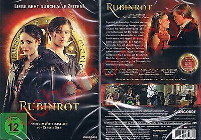 DVD RUBINROT RUBY RED (2013) Maria Ehrich Kerstin Gier Teen Fantasy Region 2 NEW