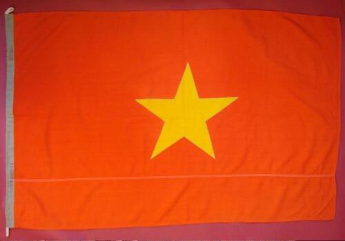 Communist VIETNAM NAVY FLAG Soviet made ORIGINAL from 1979 War vs China Rare BIG