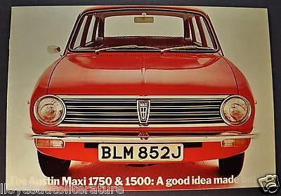 1971-1972 Austin Maxi 1750 & 1500 Catalog Sales Brochure Excellent Original