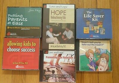 Lot of 6 Love and Logic Solutions Jim Fay Foster Cline CDRaising Kids CDs & DVD