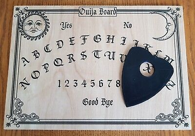 Halloween Spirit Board Game (Wooden Ouija Board Game Planchette Instructions Spirit Talking Ghost)