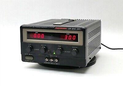 Sorensen Lm30-6 Lm 30-6 Dc Laboratory Lab Variable Power Supply 180w 0-30v 0-6a