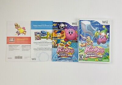 Kirby's Return to Dream Land Nintendo Wii Complete & Tested FAST FREE SHIPPING