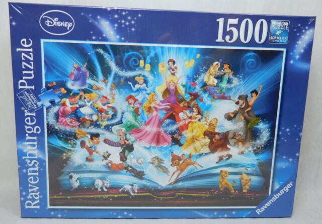 Original Ravensburger Puzzle Disney 1500 Teile Magisches Märchenbuch 16318