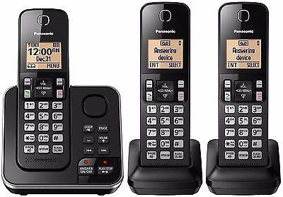 Panasonic KX-TG633SK Cordless 3 Handset Landline Telephone w/ Answering Machine