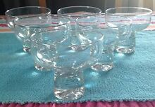 SET OF 6 RETRO/VINTAGE DESSERT GLASSES Wishart Brisbane South East Preview