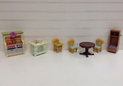 Fisher Price Loving Family Dollhouse Furniture Kitchen Sink Stove Table Lot Set