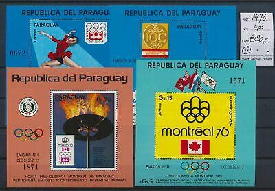 LO17130 Paraguay 1976 sports olympics sheets MNH cv 120 EUR