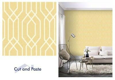 Arthouse New York Geo Yellow White Geometric Wallpaper, 908301