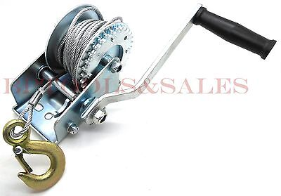 Hand Winch 1200 lbs Steel Cable Hand ...