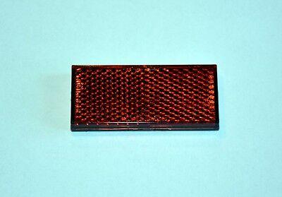 Rechteckiger Reflektor (Mini Reflektor Rückstrahler rot Katzenauge selbstklebend Anhänger recht eckig)