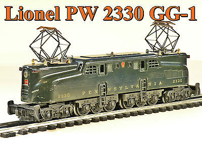 Lionel PW 2330 GG-1 Electric Locomotive Brunswick Green 5-Stripe 1950 C6 no box