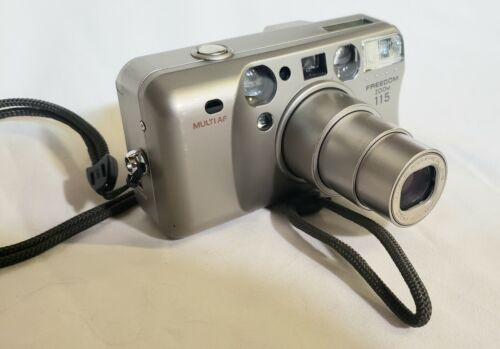 TESTED Minolta Freedom 115 Zoom Date 35mm Film Camera 37.5-115mm FREE SHIPPING - $27.99