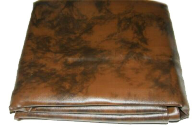 8 foot Heavy Duty Fitted Leatherette Pool Table Billiard Cover Amber