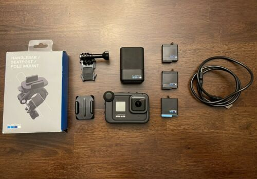 GoPro HERO8 Black Action Camera W/Accessories And 2 Extra Batteries, Media Mod - $330.00