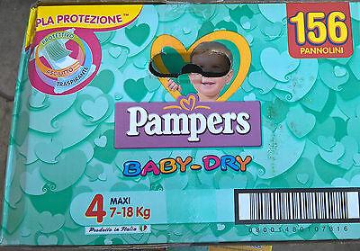 PAMPERS BABY DRY GRÖßE 4 MAXI 7-18 KG SUPERSCORTA 156 WINDELN GÜNSTIG