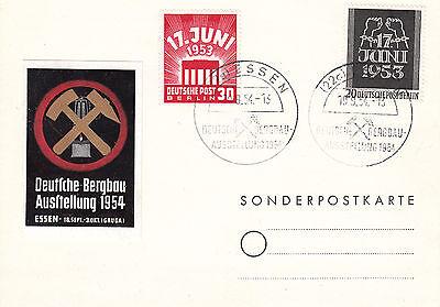 Berlin, Mich. 110-111 auf Brief, Bergbau Sonderstempel Essen, TOP, siehe Scan