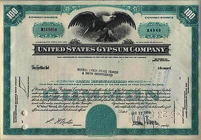 United States Gypsum Company Stock Certificate Usg