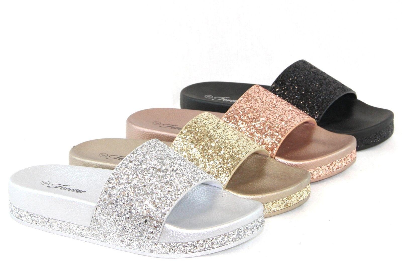 Women Sandals Sequins Sandals Bling Glitter Lightweight Slip