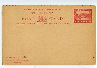 ST. HELENA 1d+1d REPLY CARD, VERY MINOR SOILING                          (B807)