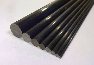1000mm Length Pultruded Carbon Fibre Rods Diameter: 1,2,3,4,5,6,8,10,15mm