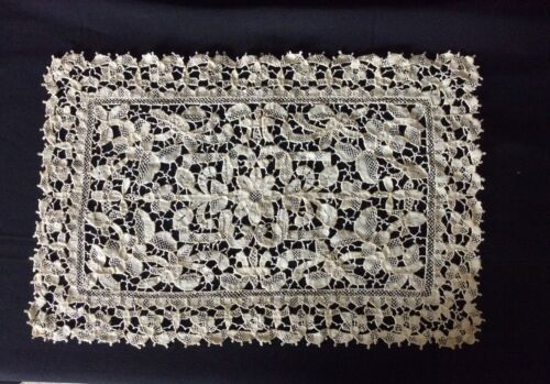 Antique 1900's Needle Lace Dresser Scarf or placemat