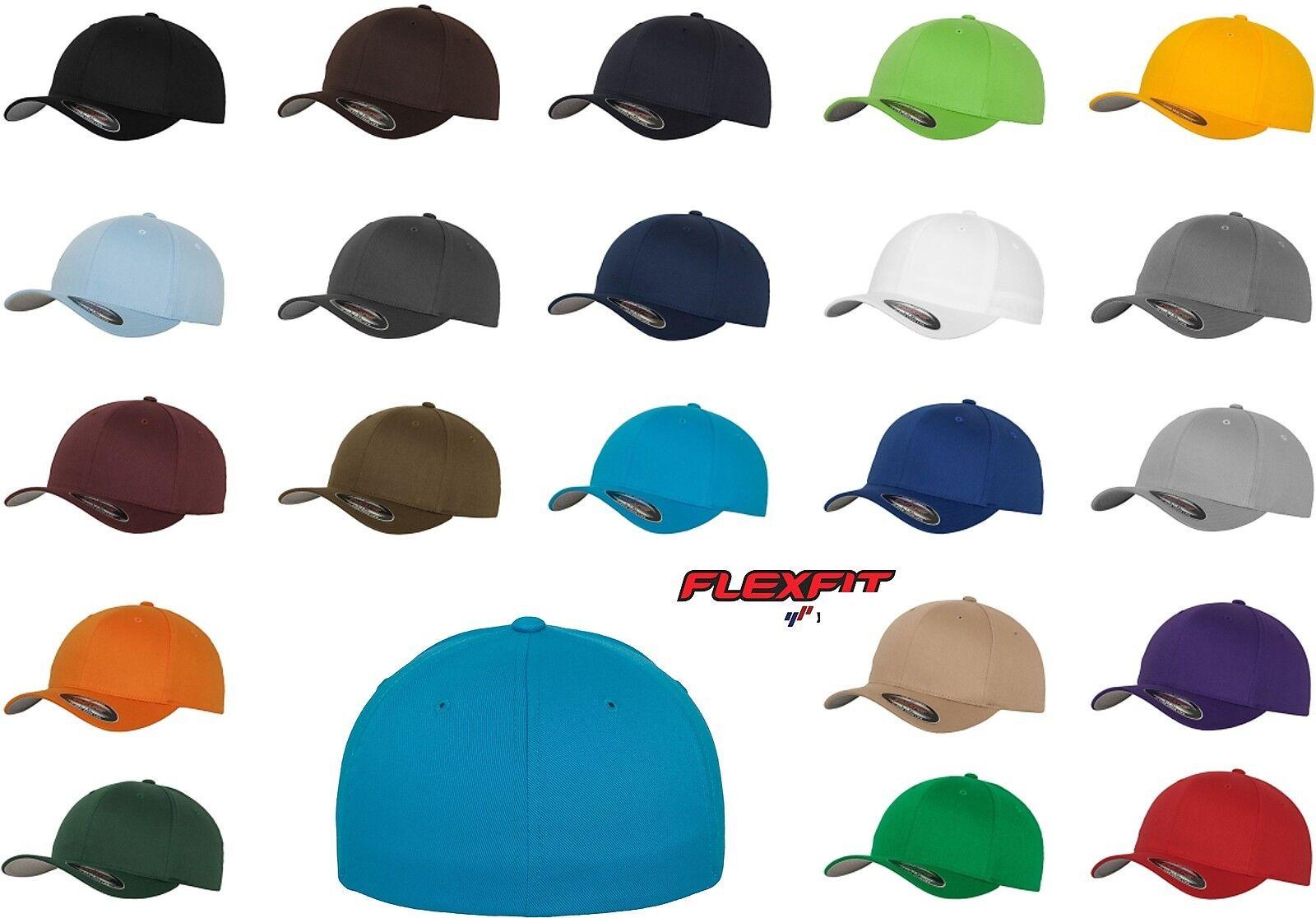 Original Flexfit Basecap Wooly Cap Cappy Caps Kappe Baseball Cap Mütze Flex Fit