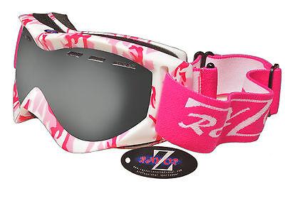 Rayzor Ladies Pink Camouflage Ski Snowboard Goggles Smoke Mirrored Lens RRP£69