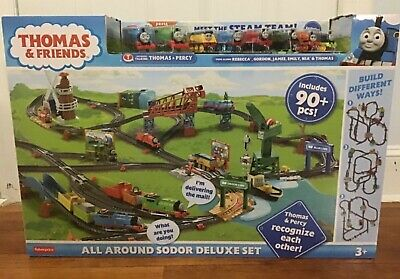 New Thomas & Friends All Around Sodor Deluxe Set ( 90+ pieces ) Train Set