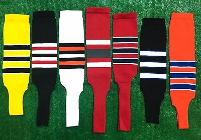 Baseball Softball Stirrups Socks Stripes Gold Black White Orange Red Navy Royal Black Baseball Stirrup