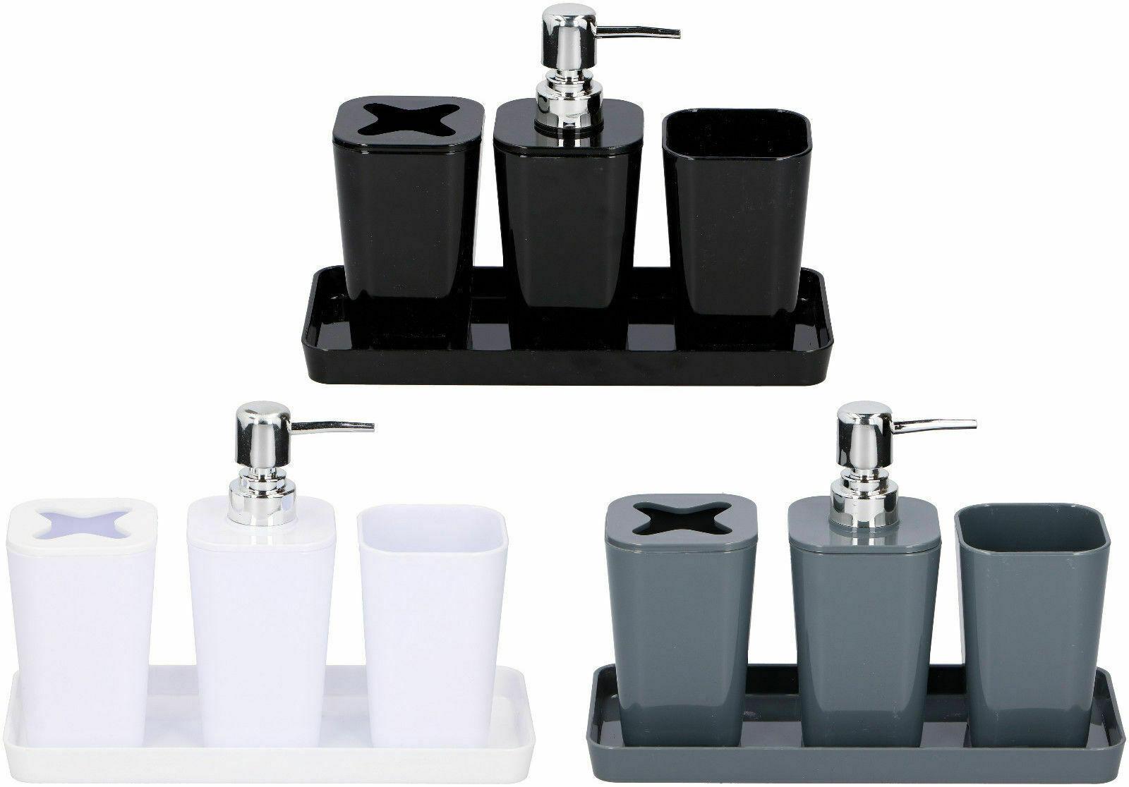 Badezimmer Bad Zubehör Set Seifenspender Zahnputzbecher Zahnbürsten-Becher WC