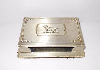 Vintage Notepad Holder Setter Dog Grammes Allentown PA Desk Note Desktop Desktop Notepad Holder