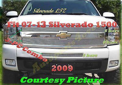 2007-2013 07-13 08 09 2011 Chevy Silverado 1500 New Billet Grille 3PC 2012 2013