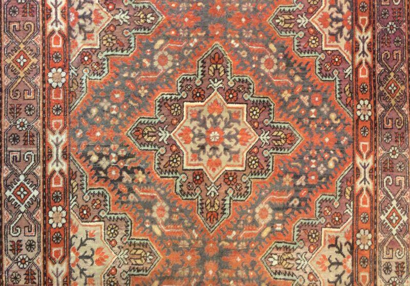 Special Samarkand - 1890s Antique Khotan Rug - East Turkestan Carpet 6 X 12.9 Ft