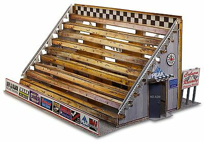 "BK 4802 1:48 Scale ""Bleacher Kit & Hot Dog Stand"" Photo Real Scale Building Kit"