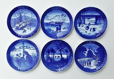 Six (6) Vintage Royal Copenhagen Christmas Plates, 1967-1973, no '71