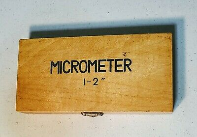 Phase Ii Edp 100-002 1-2 Outside Micrometer .0001 Grad. With Box