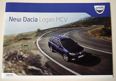 Dacia . Logan MCV . New Dacia Logan MCV . July 2017 Sales Brochure