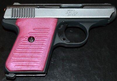 - Jimenez JA22 Jennings J22 pistol grips flamingo pink plastic